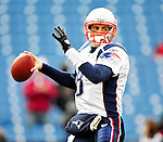 20 December 2009: New England Patriots' quarterback Brian Hoyer warms up prior to a game against the Buffalo Bills at Ralph Wilson Stadium in Orchard Park, New York. The Patriots defeated the Bills 17-10. Mandatory Credit: Ed Wolfstein Photo