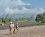 The Nyiragongo Volcano looms above the eastern Congo city of Goma.