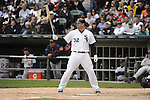 CHICAGO - APRIL 13:  Adam Dunn #32 of the Chicago White Sox bats against the Detroit Tigers  on April 13, 2012 bats U.S. Cellular Field in Chicago, Illinois.  The White Sox defeated the Tigers 5-2.  (Photo by Ron Vesely)   Subject:  Adam Dunn