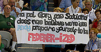 Federer fans at Rod Laver Arena as Andy Murray (GBR) (5) against Roger Federer (SUI) (1) in the Final of the Mens Singles. Federer beat Murray 6-3 6-4 7-6..International Tennis - Australian Open Tennis - Sunday 31 Jan 2010 - Melbourne Park - Melbourne - Australia ..© Frey - AMN Images, 1st Floor, Barry House, 20-22 Worple Road, London, SW19 4DH.Tel - +44 20 8947 0100.mfrey@advantagemedianet.com