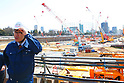 Construction of Tokyo 2020 new stadium continues