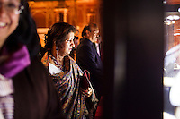 Guests admire a jewelry exhibition while listening to a speech before a violin recital at the OzFest Gala Dinner in the Jaipur City Palace, in Rajasthan, India on 10 January 2013. Photo by Suzanne Lee