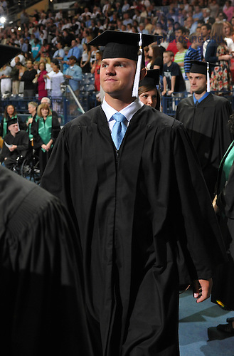 May 21, 2011; Former Notre Dame Fighting Irish quarterback Jimmy Clausen enters the Purcell Pavilion for the 2011 College of Arts & Letters Commencement ceremony...Photo by Matt Cashore/University of Notre Dame