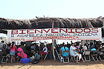 2o Congreso Nacional Extraordinario del Congreso Nacional Indígena en la comunidad de Xayacalan, Santa Maria Ostula, Michoacan los dias 8 y 0 de agosto de 2009. Dos mil indígenas nahuas de Santa Maria Ostula recuperaron cerca de setecientas hectareas que habian sido ocupadas por pequeños propietarios después de una larga lucha ellas. Photo by Heriberto Rodriguez