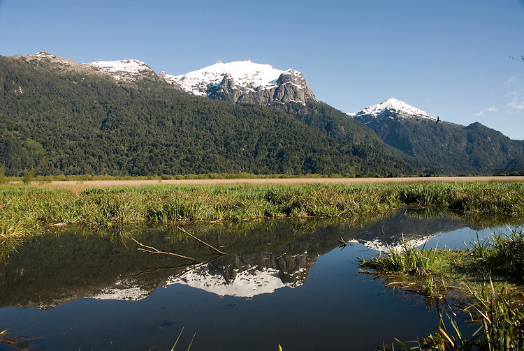 Chile, Lake Country: Beautiful scenery of the Lake Country at Peulla in the Andes..Photo #: ch643-33332.Photo copyright Lee Foster www.fostertravel.com, lee@fostertravel.com, 510-549-2202.
