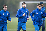 St Johnstone Training&hellip;.31.03.17<br />Graham Cummins pictured during training with Blair Alston and Paul Paton on the astroturf at McDiarmid Park this morning ahead of tomorrow&rsquo;s game at Hamilton.<br />Picture by Graeme Hart.<br />Copyright Perthshire Picture Agency<br />Tel: 01738 623350  Mobile: 07990 594431