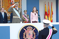 Prince Felipe of Spain and Princess Letizia of Spain attend National Day Military parade -Spain