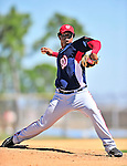 1 March 2010: Washington Nationals' starting pitcher Juan Jaime takes practice during Spring Training at the Carl Barger Baseball Complex in Viera, Florida. Mandatory Credit: Ed Wolfstein Photo