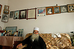Sheikh Abu Adnan at his home, in the Druze village of Majdal Shams, Golan Heights.