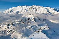 Mount Logan in the St. Elias Icefields, Kluane National Park, Yukon