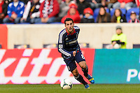 Dilly Duka (8) of the Chicago Fire. The New York Red Bulls defeated the Chicago Fire 5-2 during a Major League Soccer (MLS) match at Red Bull Arena in Harrison, NJ, on October 27, 2013.
