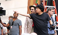 NEW YORK, NY-July 16: Bong Joon-Ho, Jake Gyllenhaal shooting on location for Netflix & Plan B Enterainment  film Okja in New York. NY July 16, 2016. Credit:RW/MediaPunch
