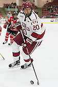 Adam Baughman (Harvard - 20) - The Harvard University Crimson defeated the visiting Rensselaer Polytechnic Institute Engineers 5-2 in game 1 of their ECAC quarterfinal series on Friday, March 11, 2016, at Bright-Landry Hockey Center in Boston, Massachusetts.