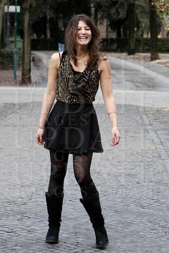 "L'attrice Carole Combes posa durante un photocall per la presentazione del film ""Qualcosa nell'aria"" a Roma, 14 gennaio 2013..Actress Carole Combes poses during a photocall for the presentation of the movie ""Apres Mai"" (""Something in the air"") in Rome, 14 January 2013..UPDATE IMAGES PRESS/Riccardo De Luca"