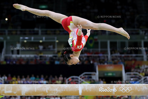 Aiko Sugihara (JPN), <br /> AUGUST 9, 2016 - Artistic Gymnastics : <br /> Women's Final <br /> Balance Beam  <br /> at Rio Olympic Arena <br /> during the Rio 2016 Olympic Games in Rio de Janeiro, Brazil. <br /> (Photo by Sho Tamura/AFLO SPORT)