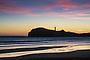Castlepoint lighthouse Dawn silhouette, Coastal Wairarapa, New Zealand