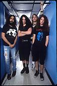 Soundgarden - L-R: Kim Thayil, Chris Cornell, Matt Cameron, Jason Everman - photographed at The Metro in Chicago, Illinois USA - Oct 21, 1989.  Photo credit:  Gene Ambo/IconicPix