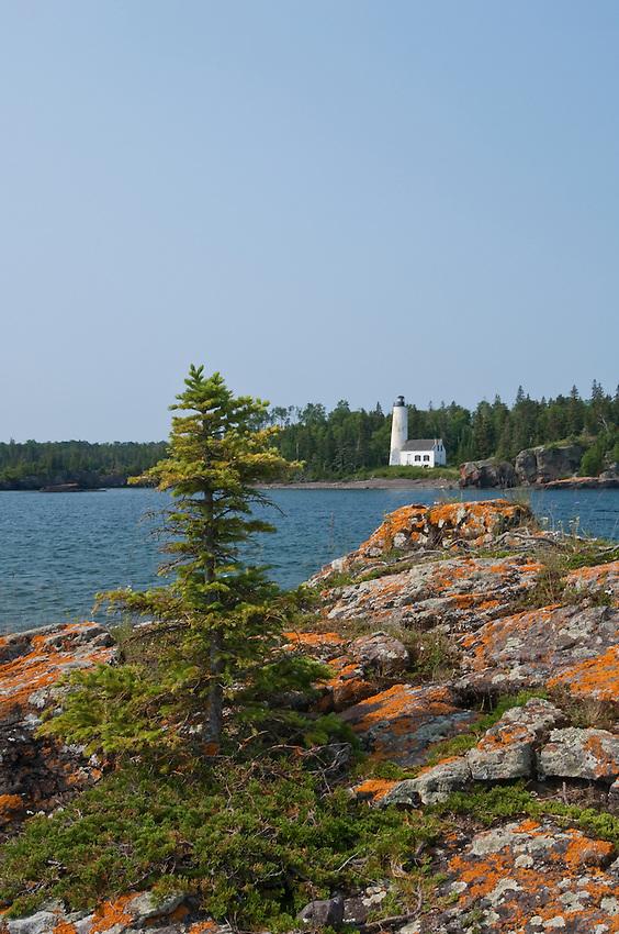 Rock Harbor Lighthouse at Isle Royale National Park.