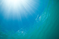 Water and sun's rays<br /> Maho Bay<br /> Virgin Islands National Park<br /> St. John, U.S. Virgin Islands