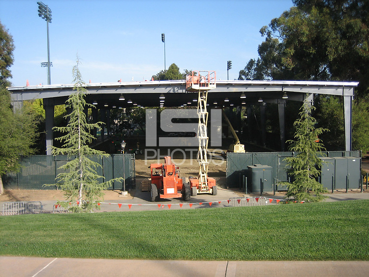 24 March 2007: Photographs of the batting cage facility construction at Sunken Diamond in Stanford, CA.