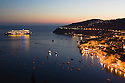 Dusk view of Villefranche near Nice in the South of France.