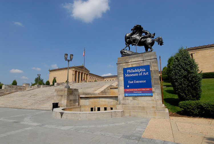 Exterior of Philadelphia Museum of Art.Philadelphia, Pennsylvania, PA USA.  Photo copyright Lee Foster, 510-549-2202, lee@fostertravel.com, www.fostertravel.com.  Photo 201-30717