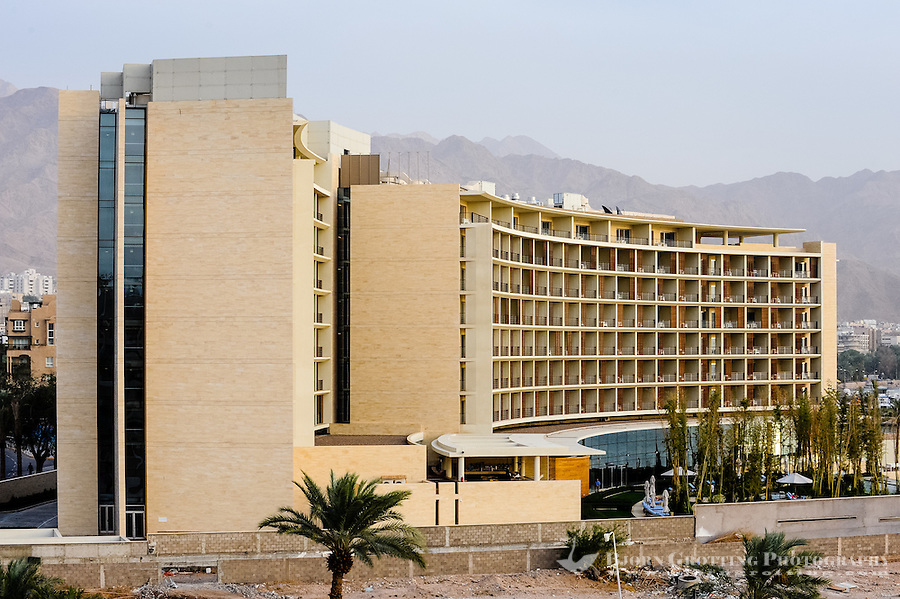 Aqaba is Jordan's only coastal city. View from Hotel Intercontinental.