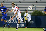 12 October 2012: Maryland's Alex Shinsky. The University of Maryland Terrapins defeated the Duke University Blue Devils 2-1 at Koskinen Stadium in Durham, North Carolina in a 2012 NCAA Division I Men's Soccer game.