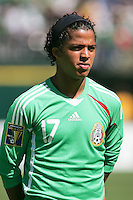 Giovani Dos Santos. Mexico defeated Nicaragua 2-0 during the First Round of the 2009 CONCACAF Gold Cup at the Oakland, Coliseum in Oakland, California on July 5, 2009.