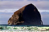 Haystack Rock, Pacific City, Oregon. The Oregon Coast, a classic, beautiful road trip. Heading West from Portland to Tillamook, with a detour to the fishing village of Garibaldi, through Cape Lookout State Park and on to our final destination of Pacific City.