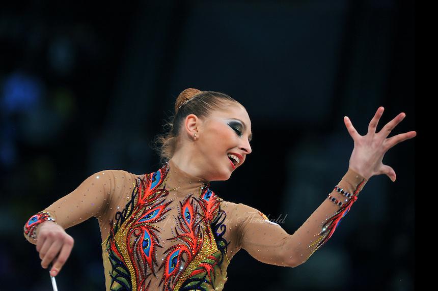 "DARIA KONDAKOVA of Russia performs in Event Finals at 2011 World Cup Kiev, ""Deriugina Cup"" in Kiev, Ukraine on May 8, 2011."