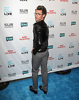 Brad Goreski.Bravo's Andy Cohen's Book Release Party For &quot;Most Talkative: Stories From The Front Lines Of Pop Held at SUR Lounge, West Hollywood, California, USA..May 14th, 2012.full length grey gray trousers black leather jacket glasses  looking over shoulder back behind rear.CAP/ADM/KB.&copy;Kevan Brooks/AdMedia/Capital Pictures.