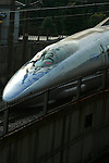 "The ""Nozomi"" is the newest version of the Shinkansen, popularly known overseas as the ""bullet train"".  The Nozomi can reach speeds of up to 320 km/h (200 mph) although they currently operate at a maximum of 300 km/h (186 mph) in service. Nozomi trains stop only at the most important stations, and reach Osaka from Tokyo in about two and a half hours."