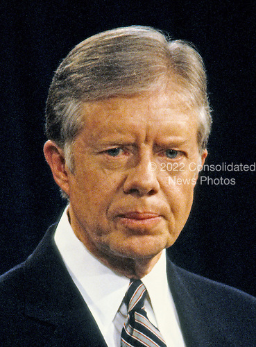 United States President Jimmy Carter holds a press conference at the White House in Washington, DC on February 13, 1980.<br /> Credit: Arnie Sachs / CNP