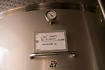 Chile Wine Country: Stainless steel tank at Undurraga Winery storing special Chilean varietal Carmenere, near Santiago..Photo #: ch433-32836..Photo copyright Lee Foster, 510-549-2202, www.fostertravel.com, lee@fostertravel.com.