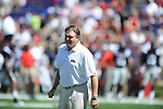 Ole Miss Head Coach Houston Nutt at Vaught-Hemingway Stadium in Oxford, Miss. on Saturday, September 4, 2010. Jacksonville State won 49-48 in double overtime.