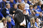 LSU head coach Johnny Jones yelling after a foul was called during the first half of the men's basketball game vs. LSU at Rupp Arena on Saturday, January 26, 2013, in Lexington, Ky. Photo by Kalyn Bradford | Staff