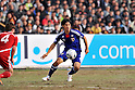 Shinji Okazaki (JPN), NOVEMBER 11, 2011 - Football / Soccer : 2014 FIFA World Cup Asian Qualifiers Third round Group C match between Tajikistan 0-4 Japan at Central Stadium in Dushanbe, Tajikistan. (Photo by Jinten Sawada/AFLO)