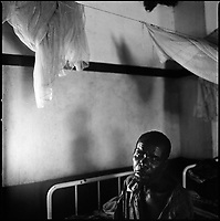 Kuito, Angola, May, 22, 2006.Anotnio, 36, suffers from Tuberculosis and malnutritiion, he is a patient in Bi&eacute; Province Hospital. TB is endemic in the region, fueled by poverty, malnutrition, inadequate hygiene and the rapid spreading of HIV/AIDS since the end of the civil war in 2002.