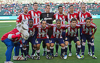 CARSON, CA – July 2, 2011: Chivas USA starting lineup for the match between Chivas USA and Chicago Fire at the Home Depot Center in Carson, California. Final score Chivas USA 1, Chicago Fire 1.