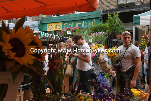 Columbia Road Sunday Flower Market East London Uk