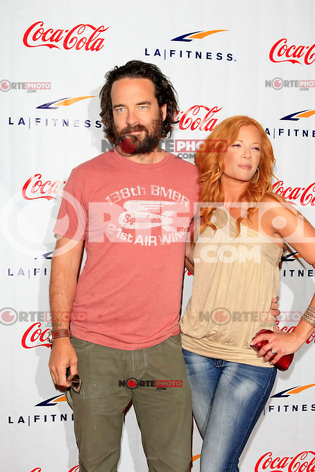 Andy Comeau, Dawn Lewis at the Grand Opening Celebrity VIP Reception of the FIRST SIGNATURE LA FITNESS CLUB, Woodland Hills, Los Angeles, California, 02.06.2012...Credit: Martin Smith/face to face /MediaPunch Inc. ***FOR USA ONLY***