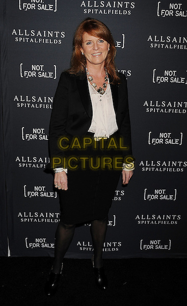 Sarah Ferguson, Duchess of York.AllSaints Spitalfields and Not For Sale Launch Exclusive Collection held at The Music Box, Hollyood, California, USA..24 October 2011.full length white shirt black jacket necklace skirt fergie.CAP/ROT/TM.©Tony Michaels/Roth Stock/Capital Pictures