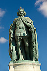 Statue of King Nagy Lajos (1466 - 1452) H?s&ouml;k tere, ( Heroes Square ) Budapest Hungary