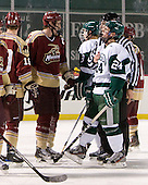 Shawn Baker (Norwich - 6), Pat Guerriero (Babson - 24) - The Norwich University Cadets defeated the Babson College Beavers 4-1 on Friday, January 13, 2011, at Fenway Park in Boston, Massachusetts.