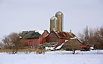 A collection of Barns that still can be seen while traveling the countryside in  the beautiful State of Wisconsin.<br /> Jefferson County- Barn falling down on Klement Road and Hwy 106.