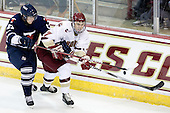 Charlie McDonald (Toronto - 23), Isaac MacLeod (BC - 7) - The Boston College Eagles defeated the visiting University of Toronto Varsity Blues 8-0 in an exhibition game on Sunday afternoon, October 3, 2010, at Conte Forum in Chestnut Hill, MA.