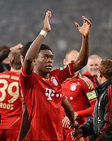 FUSSBALL   DFB POKAL   SAISON 2011/2012   HALBFINALE   21.03.2012 Borussia Moenchengladbach - FC Bayern Muenchen  SCHLUSSJUBEL FC Bayern Muenchen;  David Alaba