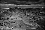 Winding Road through the valleys of Edale, Peak District