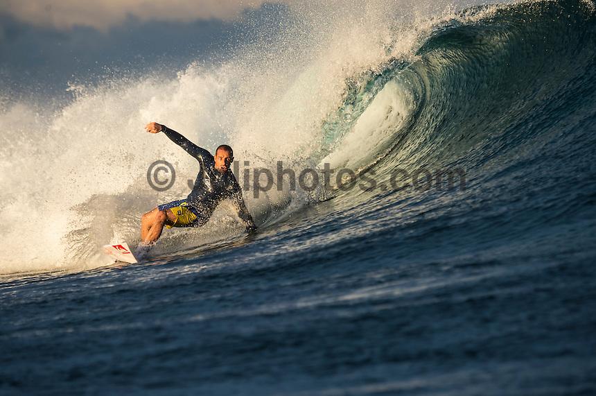 Namotu Island Resort, Namotu, Fiji. (Wednesday June 4, 2014) Tiago Pires (PRT) – Free surfing session went down this morning while organises debated a starting time for the Fiji Pro. Photo: joliphotos.com